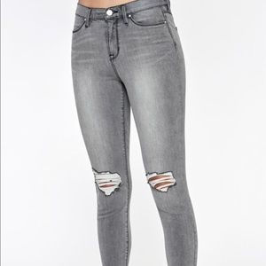 Pacsun Gray Wash High Waisted Ankle Jean Leggings
